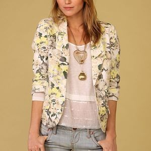 Free People Floral Button Front Blazer